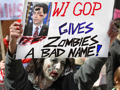 Union Zombies Disrupt Special Olympics Event