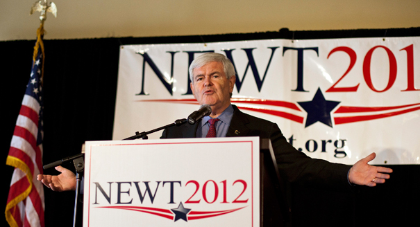 Gingrich Turns to Guerrilla Tactics, Takes Campaign Into the Mountains