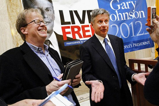 Watch: Inside Gary Johnson's Campaign Suite